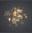 golden glowing lights effects vector image vector image