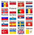 grunge European flags vector image vector image