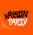 halloween party lettering concept vector image