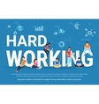 Hard working concept vector image