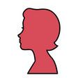 head woman profile icon vector image