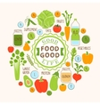 Healthy food background of fresh vegetable vector image