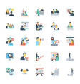 human resources and management icons 8 vector image vector image