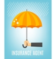 Insurance Agent Background vector image