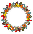 laurel wreath frame on white background vector image vector image