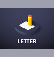 letter isometric icon isolated on color vector image vector image