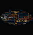 lift chairs and the fountain of youth text vector image vector image