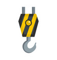 machinery hook icon flat style vector image vector image