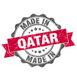 made in qatar round seal vector image vector image