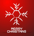 Merry Christmas Paper Title with Abstract vector image vector image
