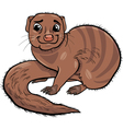 mongoose animal cartoon vector image vector image