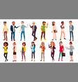 multinational people set crowd of people vector image