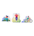 outdoor sport flat set vector image