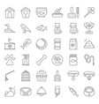 pet shop related and symbol thin line icon vector image