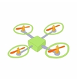 Quadcopter icon in cartoon style vector image vector image