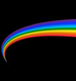 rainbow icon realistic isolated black background vector image vector image