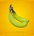 realistic mesh banana with yellow backgrounds vector image vector image