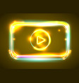 round light video player frame shining vector image