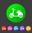 scooter motorbike motorcycle icon flat web sign vector image vector image