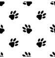 seamless pattern cats feet on white background vector image vector image