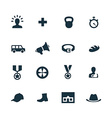set of army icons vector image vector image
