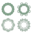 Set of Baroque Lace Frame vector image
