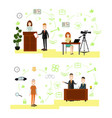set of law court people symbols icons in vector image vector image