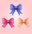 set of of paper origami bows for your design vector image vector image
