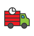 shipping truck online shopping filled style icon vector image vector image