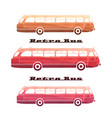 side view of colorful silhouettes of retro bus vector image vector image
