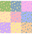silhouettes swallow Pastel spring colors vector image