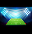 soccer field with stadium 002 vector image vector image