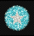 somalia flag sparkling badge vector image vector image