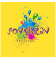 songkran festival songkran is thai culture colorf vector image vector image