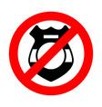 Stop cop It is forbidden by police Strikethrough vector image