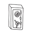 strong safe on white backdrop vector image