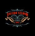 tattoo studio logo design premium estd 1987 retro vector image