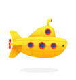 toy yellow submarine in flat style vector image vector image