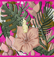 tropical seamless pattern with monstera vector image