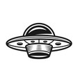 ufo monochrome object or design element vector image vector image