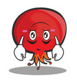 upside down pomegranate cartoon character style vector image vector image