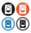 Washing machine icons vector image