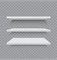 white shelves on transparent background vector image vector image