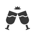 wine glass cheers cute christmas and winter vector image