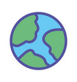 world planet map geography icon on white vector image