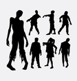 Zombie horror male and female silhouette
