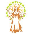 panacea - ancient greek goddess vector image