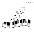 Musical keyboard and note vector image
