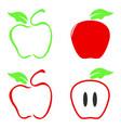 color apple icon vector image