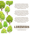 abstract forest poster design - eco poster vector image